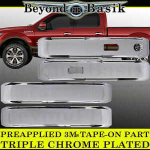 Ford F150 F 150 2015 2018 Super Crew 4dr Chrome Door Handle Covers W Smart Key