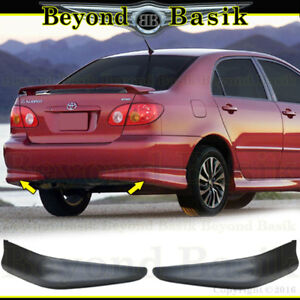 For 2003 2008 Toyota Corolla 2pc Factory S Style Body Kit Rear Bumpers Chins Pp