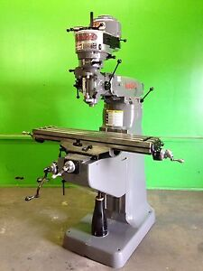 Bridgeport Milling Machine 9 X 42 Table One Shot Lube
