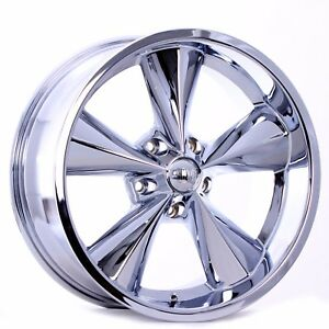 Boyd Coddington Junkyard Dog Wheels Chrome 20x9 Suit Older Chevy Truck C10