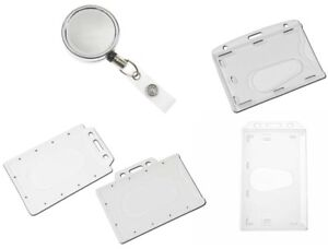 Heavy Duty Chrome Retractable Reel Security Badge Enclosed Id Card Pass Holder