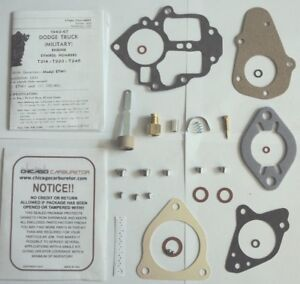 1940 S 1950 S Carb Kit Dodge Military Truck 6 Cylinder Carter Etw1 B