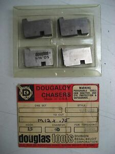 Douglas Tools 9 16ds Dougaloy Chasers To Cut M12 X 75 Hook 15 Chamfer 40