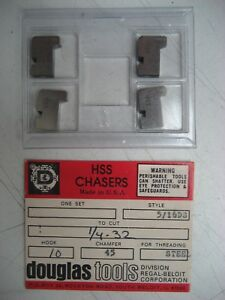 Douglas Tools 5 16ds Hss Chasers To Cut 1 4 32 Hook 10 Chamfer 45