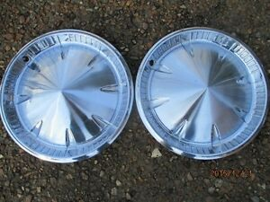 2 1958 1959 Plymouth Wheel Covers