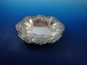 Silverplate Candy Dish With Floral Design By Wallace 9720