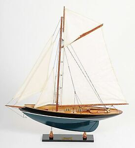 Pen Duick Sailboat 26 5 Painted Wood Model Yacht Assembled