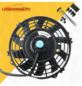 1 X 7 Inch Universal Electric Radiator Slim Cooling Fan Push Pull W Mount Kit