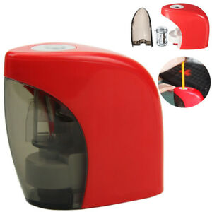 Red Desktop Electric Touch Switch Pencil Sharpener Automatic Home School Office