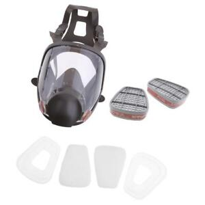 Set Of 7pcs Face Respirator Gas Mask Visor Chemical Formaldehyde Cartridges