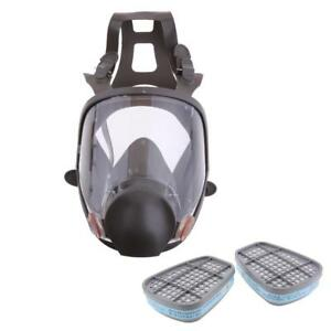 Face Respirator Gas Mask Visor Protector Chemical Formaldehyde Cartridges 8