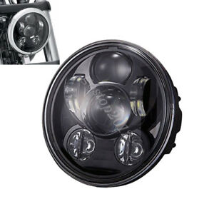 5 75 Motorcycle Round Projector Drl Hi l Beam Osram Led Headlight For Harley