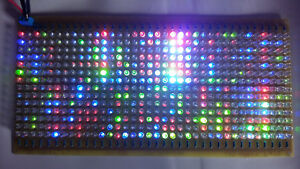 504 Led Flashing Led Light Array Pcb Board Panel 24v Dc Multicolor Strobe