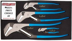 Channellock Usa 4 Piece Tongue And Groove Plier Pit Crew Set Iii Chlpc3