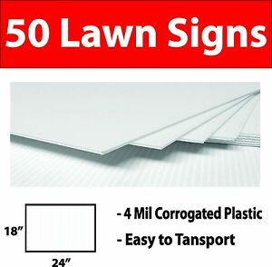 50 Lawn Signs In 2 Different Colors