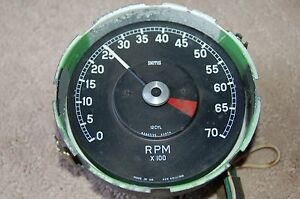 Vintage Smiths Tachometer 12 Cyl England Rvc 4011 00