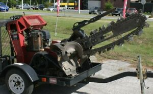 Trx 16 24 Walk Behind Trencher With Trailer