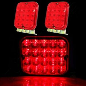 2x Red 4 5 Trailer Tail Light Kit For Brake Rv Boat Truck Turn Signal Led Light