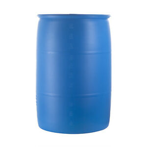 Lot Of 100 55 Gallon Plastic Drums These Have Been Presure Washed And Clean