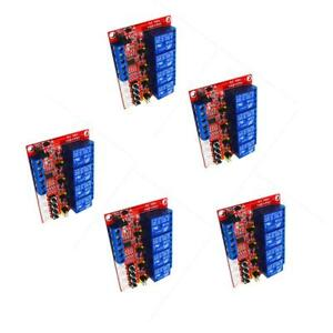 4 Ch Relay Module With Optocoupler H l Level Triger For Arduino 12v 5 Pcs