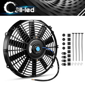 Slim 12 inch Push Pull Electric Cooling Fan Radiator Truck 2150cfm Universal