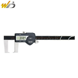 0 150 Mm 6 Digital Outside Groove Caliper With Flat Points Digimatic Vernier