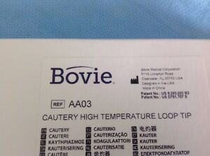 Bovie High Temp Loop Tip Ref Aa03 Exp 2020 09 01 10pcs