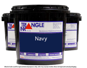 Triangle Ink 1149 Navy Screen Printing Plastisol Ink 1 Gallon
