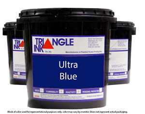 Triangle Ink 1153 Ultra Blue Screen Printing Plastisol Ink 1 Gallon