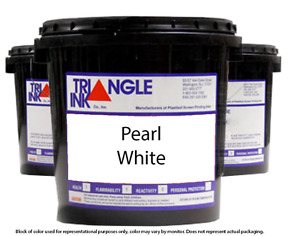 Triangle Ink 1709 Pearl White Screen Printing Plastisol Ink 1 Gallon