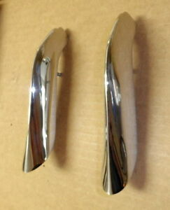 1961 1962 1963 Ford Thunderbird New Rear Top Quarter Panel Chrome End Mouldings