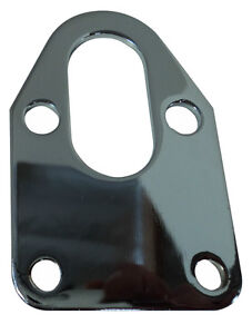 Chrome Sbc Fuel Pump Mounting Plate Chevy Chevrolet Gmc 283 305 350 400 Block
