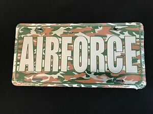Air Force Camouflage License Plate Tag Hd6