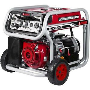 A ipower 12 000 Watt Gasoline Portable Generator W Electric Start Sua12000e