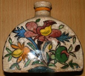 Antique Persian Glazed With Nice Decoration Hand Made Unique Vase