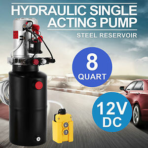 Hydraulic Double Acting Pump 12v Dc Steel Reservoir Industrial Use Power Pack