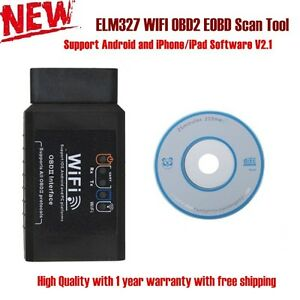 Elm327 Wifi Obd2 Eobd Scan Tool Support Android And Iphone Ipad Software V2 1