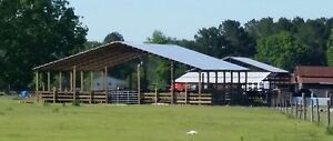 40 X 60 Steel Truss Roof System Pole Barns Hay Barns