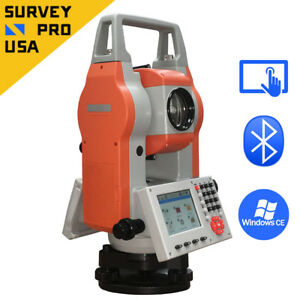 Windows Ce 2 Reflectorless Total Station No Prism Bluetooth Single Axis Survey