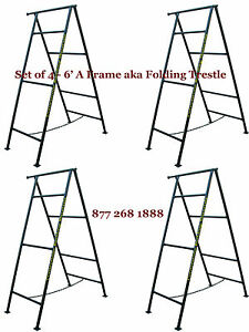 Set Of 4 6 A Frame Aka Folding Trestle For Masonry Contractor Work Cbmscaffold