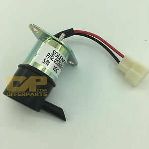 12v Cut Off Stop Solenoid 052600 4151 16271 60010 For Kubota Tractor Bx2200d