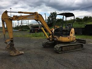 John Deere 50c Zts Mini Excavator With 3 Buckets