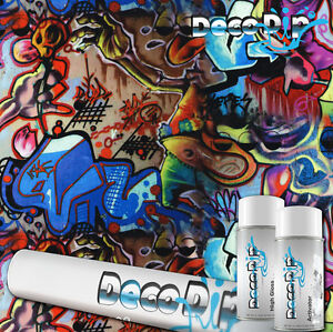Graffiti Hydrographic Hydro Deco Dip Dipping Film Kit W Activator
