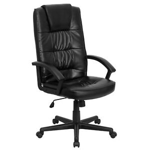 Flash Furniture Black Leather Executive Swivel Office Chair Go 7102 gg