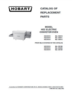 Hobart Pdf Catalog Of Replacement Parts For Model Hec Electric Conveyor Oven