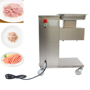 110v Meat Cutting Machine Stainless Steel Commercial Meat Slicer 5mm Blade New