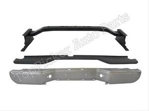 For 2005 2006 Frontier Rear Bumper Face Bar Silver Reinforce Bar Top Pad 3pcs