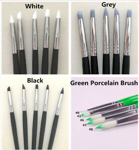 Dental Silicone Brush porcelain Brush Adhesive Composite Resin Cement Tooth Pen