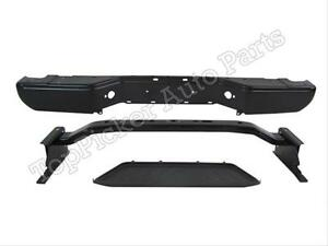 For 2005 2006 Frontier Rear Bumper Black Face Bar Hitch Reinforce Bar Lower Pad