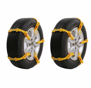 10pcs Universal Anti Skid Tire Chains For Suv Snow Winter Emergency Driving